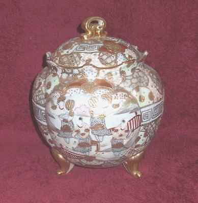 Antique Satsuma/Nippon cracker/biscuit jar