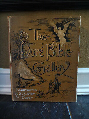 Antique 1880 Religion God Christ Religious Gustave Dore Illustrated Bible Book