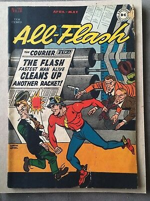 All-Flash #28 ( April-May 1947 )-- Golden Age The Flash  *fair Condition