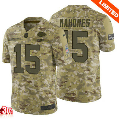 652222f3f83 Patrick Mahomes #15 Camo Kansas City Chiefs Salute to Service Limited  Jersey Men