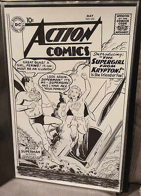 Action Comics #252 Cover Recreation 11 x 17 - 1st Supergirl