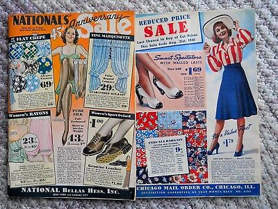 1932 National Bellas Hess 45th Anniv. & 1941 Chicago Mail Order Co. Catalogs