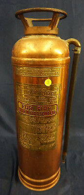 Vintage Floafome 833 Hand Fire Extinguisher Brass & Copper