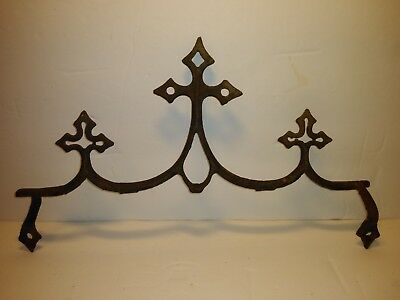 Vintage Antique Cast Iron Fence Finials Shabby Chippy Rustic Salvage Decor