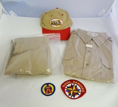 Uniform Lot NOS Vintage Royal Rangers NTC National Training Center Hats Patches