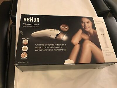 Braun Silk-expert 5 IPL BD5008 Safe Laser Hair Removal with Face Cleansing Brush