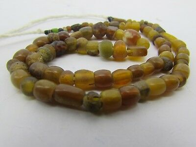 Ancient rare Roman Glass beads string in brown color from Afghanistan.