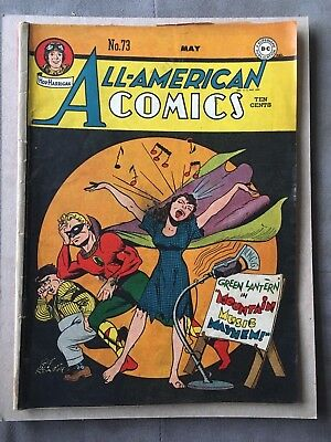 All American Comics #73 The Green Lantern DC Comics May 1946  *Good Condition