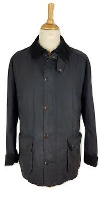 Barbour Mens Ashby Blue Wax Cotton Jacket, XL
