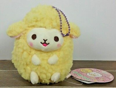 "4"" Yellow Cutie Baby Wooly Sheep Stuffed Plush ~ Authentic AMUSE Japan Round 1"
