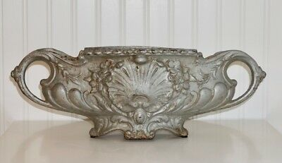 Vintage Antique French Cast Iron Planter Urn