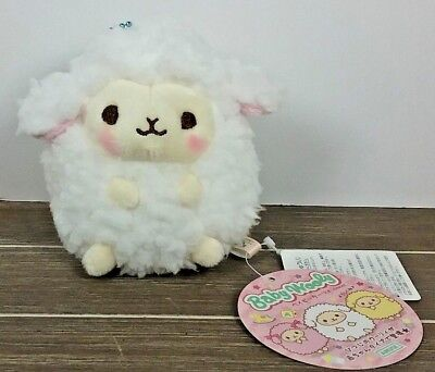 "4"" White Cutie Baby Wooly Sheep Stuffed Plush ~ Authentic AMUSE Japan Round 1"