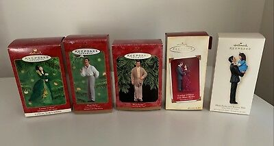 Set of 5 Gone With The Wind Hallmark Ornaments 1999, 2000, 2005, 2007
