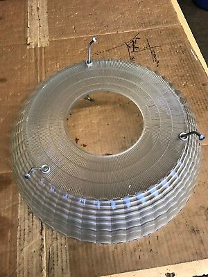 VINTAGE 1940s Old Diner REAL Glass Light Fixture Lamp Shade Art Deco