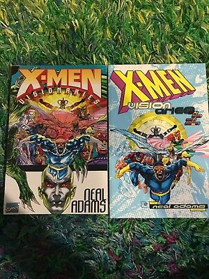 X-Men Visionaries TPB 1 and 2 Neal Adams Color Collection MARVEL Comics