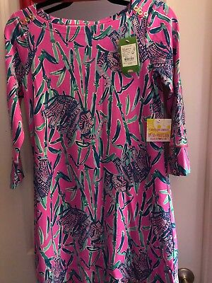 a4e48278932aa0 Nwt Lilly Pulitzer *small*spf 50+ Sophie Dress Mandevilla Pink Extra Lucky