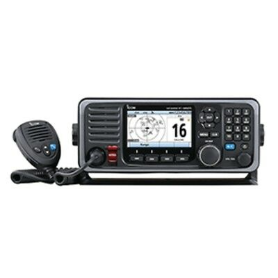 New Icom M605 Fixed Mount 25W VHF w/Color Display & Rear Mic Connector