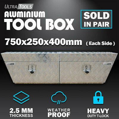 Aluminium Tool Box Under Tray Vehicle Truck Storage Underbody Pair Toolbox