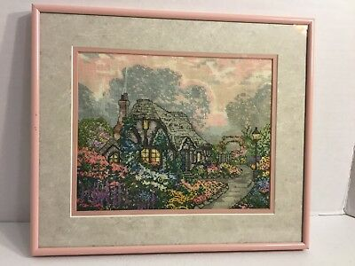 Completed Cross Stitch Cottage