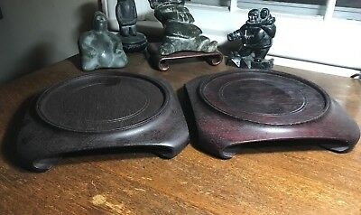 Large Vintage Chinese Hard Wood Stands