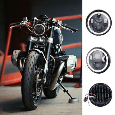 """5.75"""" Projector LED Headlight Halo Angel Eyes For Harley Sportster XL883 1200"""
