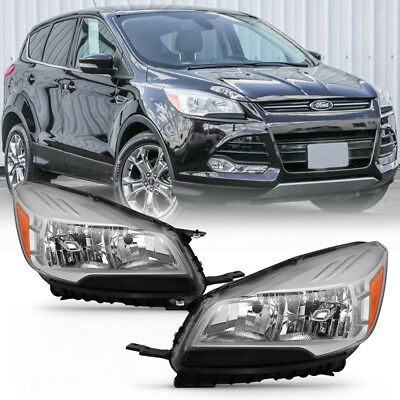 13-15 Ford Escape Kuga [Factory Style] Replacemnet Headlight Left+Right Pair Set