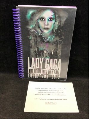 LADY GAGA Born This Way Ball UK & Europe 2012 Concert Tour Itinerary Book + Note