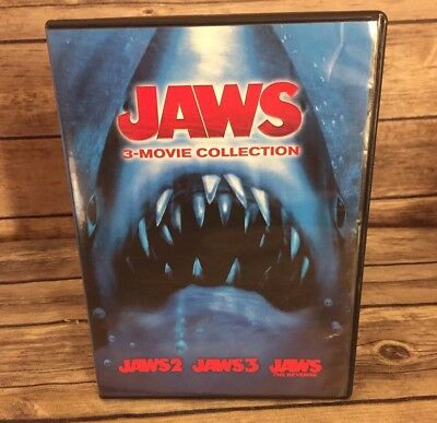 Jaws 3-Movie Collection  2 / 3 / The Revenge (DVD, 2015, 2-Disc Set) Mint Discs