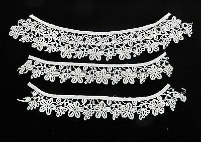 Vintage 1950's Lace Collar and Cuff Set Perfect for Retro Altered Fashion Look
