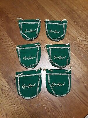 Crown Royal 50 ml bags - Lot of 6 - apple green