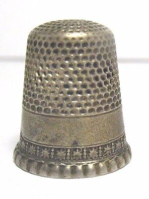 Antique Sterling Silver Thimble Size 9 Simple Design   6/22/17 #39 Syboll