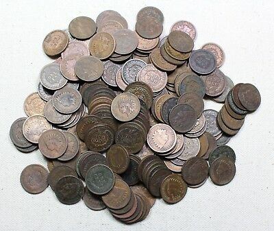 4 Rolls of Indian Head Cents (200 Total) Culls #2
