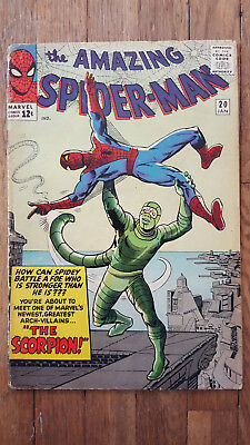 Amazing Spiderman #20 1965 1st Scorpion. Marvel Silver Age. Key book