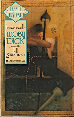 Classics Illustrated #4  Moby Dick  First Pub. 1990 Nice!!
