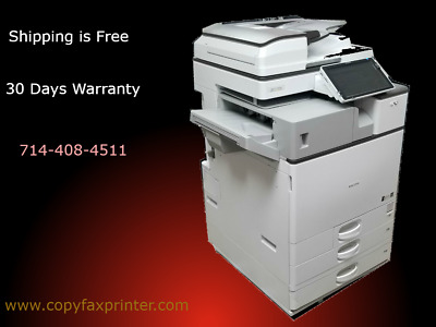 Ricoh MP C2504 Copier Printer Scanner with Stapling Finisher.Meter under 10k