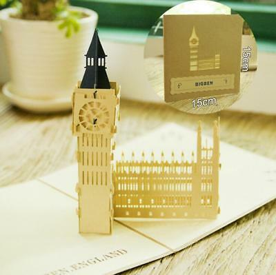 3D Pop Up Card Big Ben England Famous Building Baby Child Birthday Gift Cards