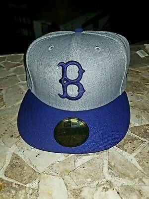 bd2a67f9d Newera Brooklyn Dodgers Cooperstown Fitted Hat Herringbone Grey Royal Blue  7 1/2