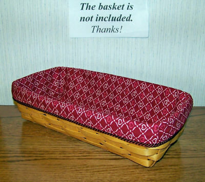 Valentine Bread Basket Liner from Longaberger Blushing Hearts Fabric