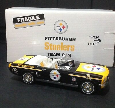 Pittsburgh Steelers Team Car 1966 Ford Mustang Convertible Danbury Mint With Box