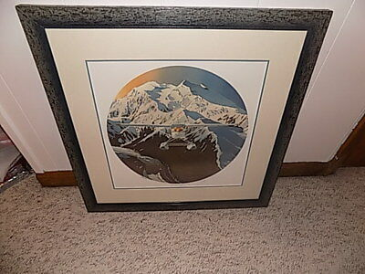 "Byron Birdsall Lithograph ""McKinley Flyer II"" 1991 Signed Numbered Framed Matted"