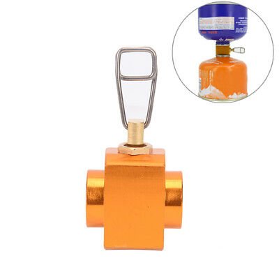 Gas valve canister shifter refill adapter gas burner camping stove cylinders LJ