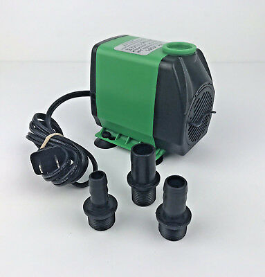 800GPH (3000L/H) Submersible Fish Tank Fountain Water Quiet Pump Hydroponics 24W