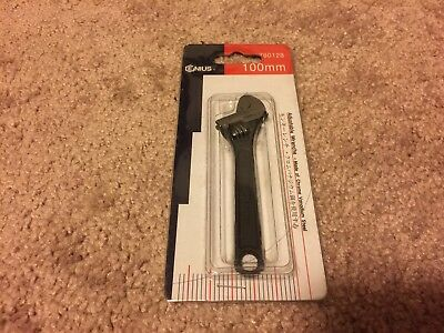 "NOS Genius  4"" adjustable wrench 780128 With Original Packaging"