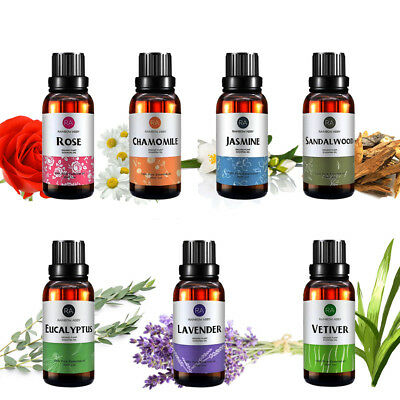 Ra Essential Oil Pure 30Ml Rose Jasmine Sandalwood Chamomile Lavender Vetiver Us