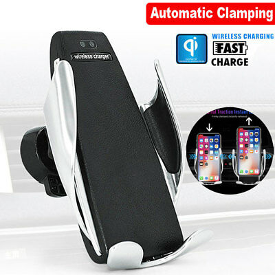 Fast Charging Infrared Automatic Clamping Wireless Car Charger Mount For Samsung