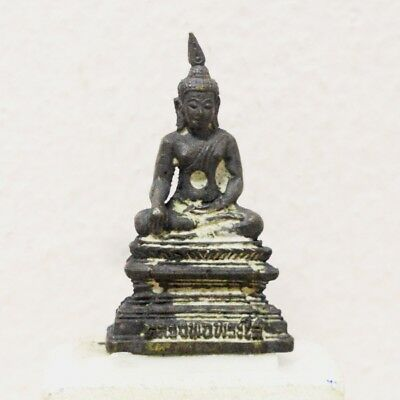 Antique Thai Buddha Amulet Old LP Statue Pendant AYUTTHAYA Buddhist Art gorgeous
