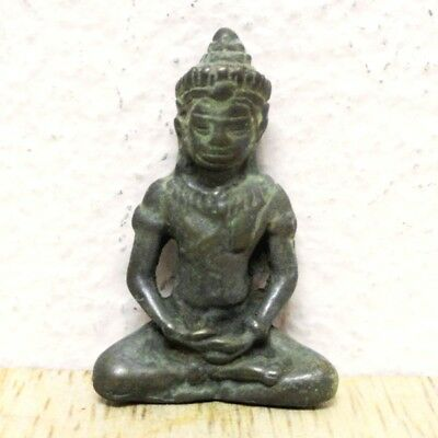 Thai Buddha LP Amulet Old Statue Pendant Ayuttaya Khmer Art Antique gorgeous