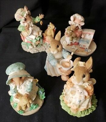 Priscella Hillman Enseco Mouse Tales & My Blushing Bunnies Figurines  (5)