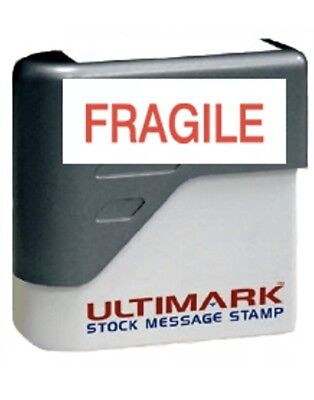 * FRAGILE *  Stamp  Pre-inked stamp, Red Ink New Included Free Shipping.