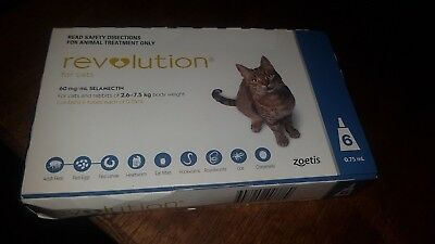 Revolution For Cats 2.6-7.5kg Blue 6 Doses